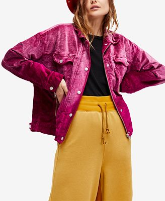 Free People Velvet Trucker Jacket