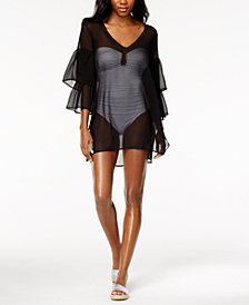 MICHAEL Michael Kors Sheer Ruffled Cover-Up Dress