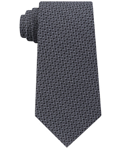 Calvin Klein Men's Allover Logo Silk Tie