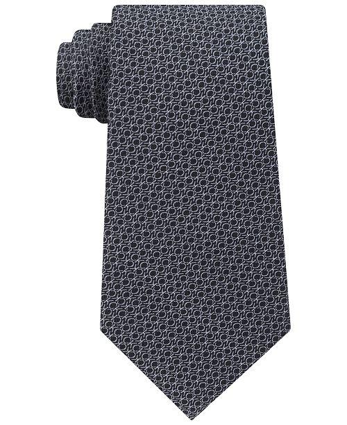 Calvin Klein Men's Allover Logo Silk Tie