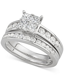 Diamond Quad Bridal Set (1-1/5 ct. t.w.) in 14k White Gold
