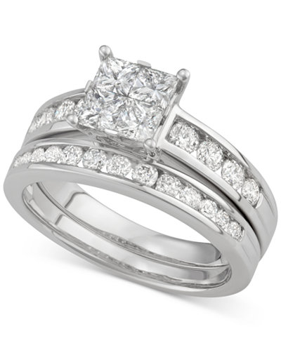 Diamond Quad Bridal Set (1-1/5 ct. t.w.) in 14k White Gold