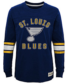 Outerstuff St. Louis Blues Historical Long Sleeve T-Shirt, Big Boys (8-20)