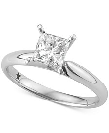 Princess Cut Solitaire Engagement Ring (1 ct. t.w.) in 14k White Gold, SI2 Clarity
