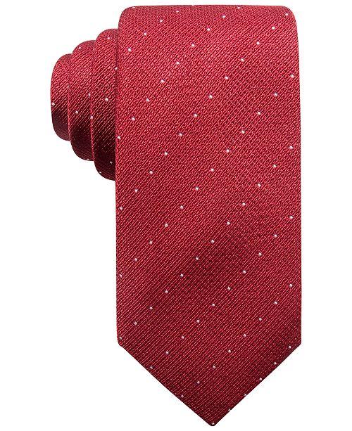 Alfani Men's Parkside Dot Silk Slim Tie, Created for Macy's