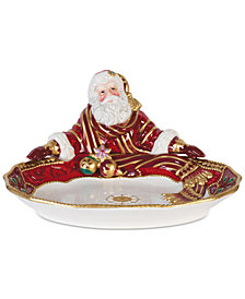Fitz and Floyd Renaissance Holiday Santa Server