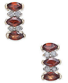 Rhodolite Garnet (3/4 ct. t.w.) & Diamond Accent Drop Earrings in 14k Gold