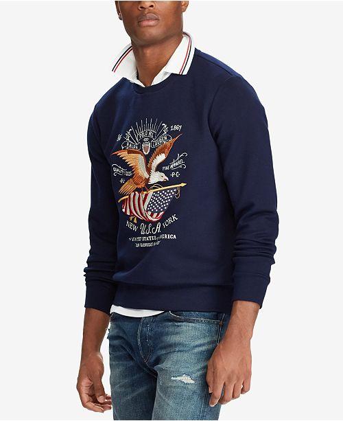 72532efb Polo Ralph Lauren Men's Graphic Sweatshirt, Created for Macy's ...