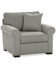 "Astra 42"" Fabric Armchair - Custom Colors, Created for Macy's"