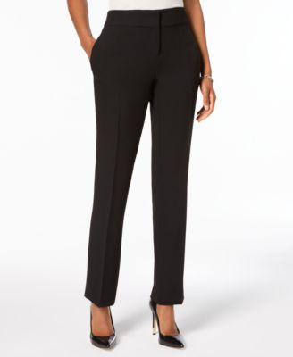 Carly Slim Straight-Leg Trousers, Regular & Petite