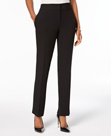 Kasper Slim Straight-Leg Trousers, Regular & Petite