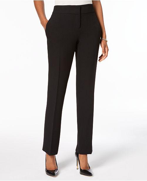 Kasper Slim Straight-Leg Trousers, Regular & Petite