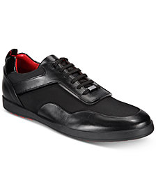 HUGO Men's Flat City Low-Profile Leather Sneakers