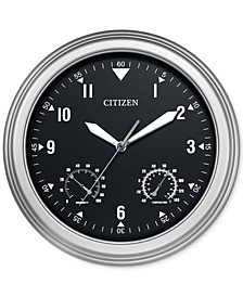 Outdoor Silver-Tone Wall Clock