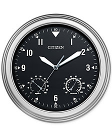 Citizen Outdoor Silver-Tone Wall Clock