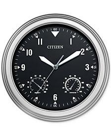 Citizen Outdoor Silver-Tone Wall Clock