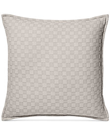 Hotel Collection Diamond Embroidered Quilted European Sham