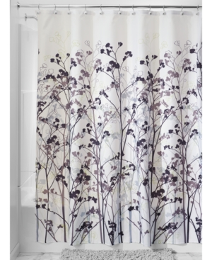 Interdesign Botanical Freesia 72 x 72 Shower Curtain Bedding