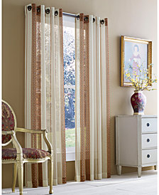 "J Queen New York Roosevelt Sheer 50"" x 84"" Grommet Curtain Panel"