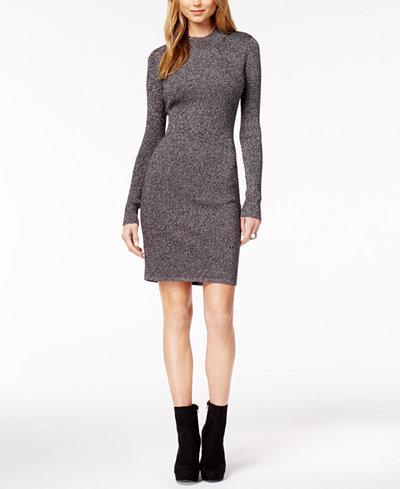 Bar III Metallic Sweater Dress, Created for Macy's