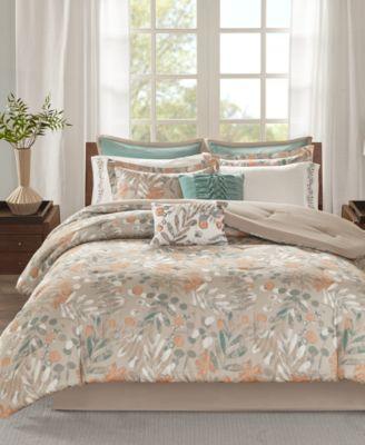 Fay 10-Pc. Cotton Reversible Queen Comforter Set