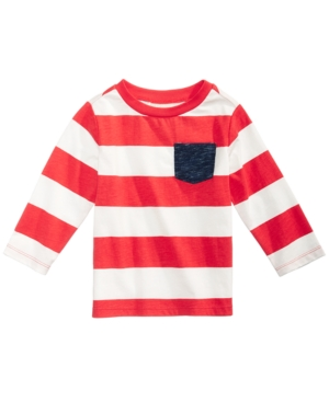 First Impressions RugbyStriped LongSleeve Cotton TShirt Baby Boys (024 months) Created for Macys