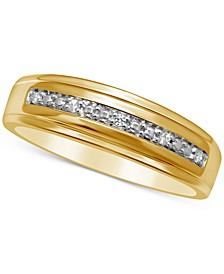 Men's Diamond Accent Wedding Band in 14k Gold