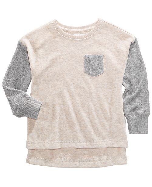 Epic Threads Colorblocked French Terry Pullover Sweatshirt, Toddler Girls, Created for Macy's