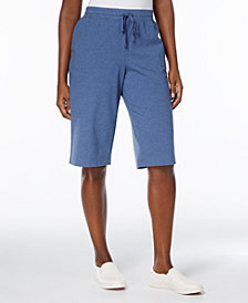 Karen Scott Petite Drawstring Skimmer Pants, Created for Macy's