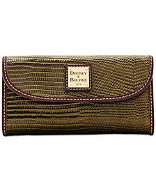 Dooney & Bourke Lizard-Embossed Continental Wallet, Created for Macy's