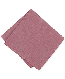 Bar III Men's Holiday Chambray Pocket Square, Created for Macy's