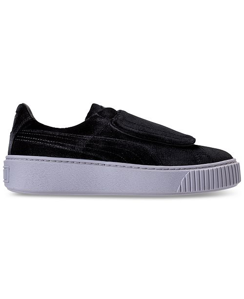 31a54b60ded ... Puma Women s Basket Platform Strap Velvet Rope Casual Sneakers from  Finish ...