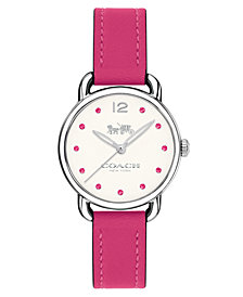 COACH Women's Delancey Dahlia Leather Strap Watch 28mm