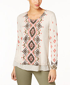 Style & Co Layered-Look Sweater, Created for Macy's