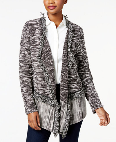 Style & Co Fringe-Trim Cardigan, Created for Macy's