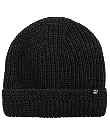 Block Hats Men's Sherpa Lined Ribbed Hat