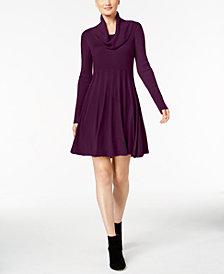 Calvin Klein Cowl-Neck Sweater Dress