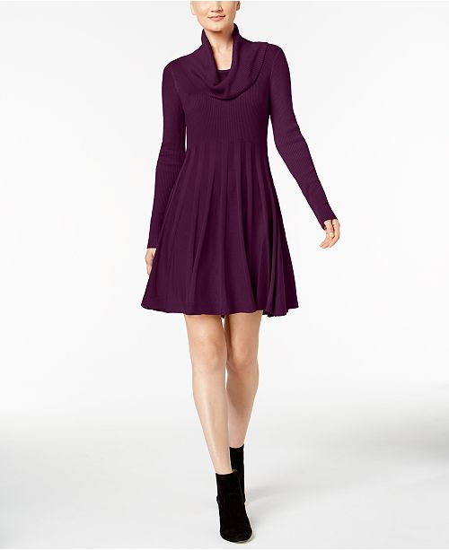 405c55ed580a0 Calvin Klein Cowl-Neck Sweater Dress & Reviews - Dresses - Women ...