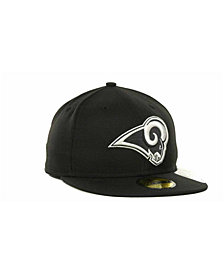 New Era Los Angeles Rams Black And White 59FIFTY Fitted Cap
