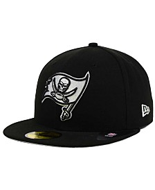 New Era Tampa Bay Buccaneers Black And White 59FIFTY Fitted Cap