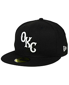 New Era Oklahoma City Dodgers Black and White 59FIFTY Fitted Cap
