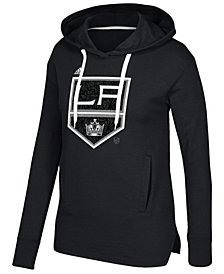 adidas Women's Los Angeles Kings Logo Shine Hooded Sweatshirt