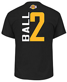 Majestic Men's Lonzo Ball Los Angeles Lakers Vertical Name and Number T-Shirt