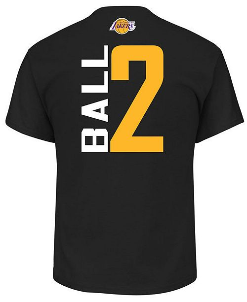 ... Majestic Men s Lonzo Ball Los Angeles Lakers Vertical Name and Number T-  ... 13ad2d304
