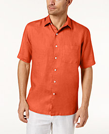 Tasso Elba Men's Linen Pocket Shirt, Created for Macy's