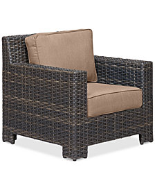 Viewport Wicker Outdoor Club Chair: with Custom Sunbrella® Colors, Created for Macy's