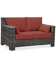 Viewport Wicker Outdoor Loveseat: with Custom Sunbrella® Colors, Created for Macy's