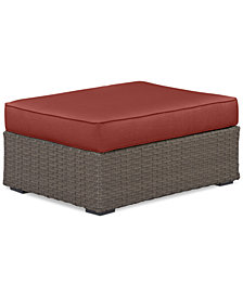 South Harbor Outdoor Ottoman with Custom Sunbrella® Colors