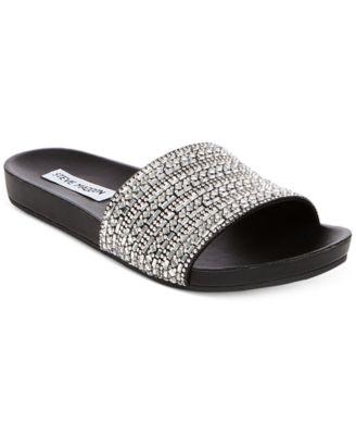 Steve Madden Women's Dazzle Embellished Sandals Shoes – Sandals & Flip Flops – Macy's