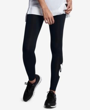 NIKE Leg-A-See High Waist Leggings, Black/ White